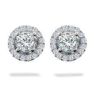 Jewelry - 3.60 carats Round halo diamond stud earring white